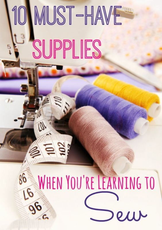 10 Must-Have Supplies When You're Learning to Sew! Such a great list for beginners!