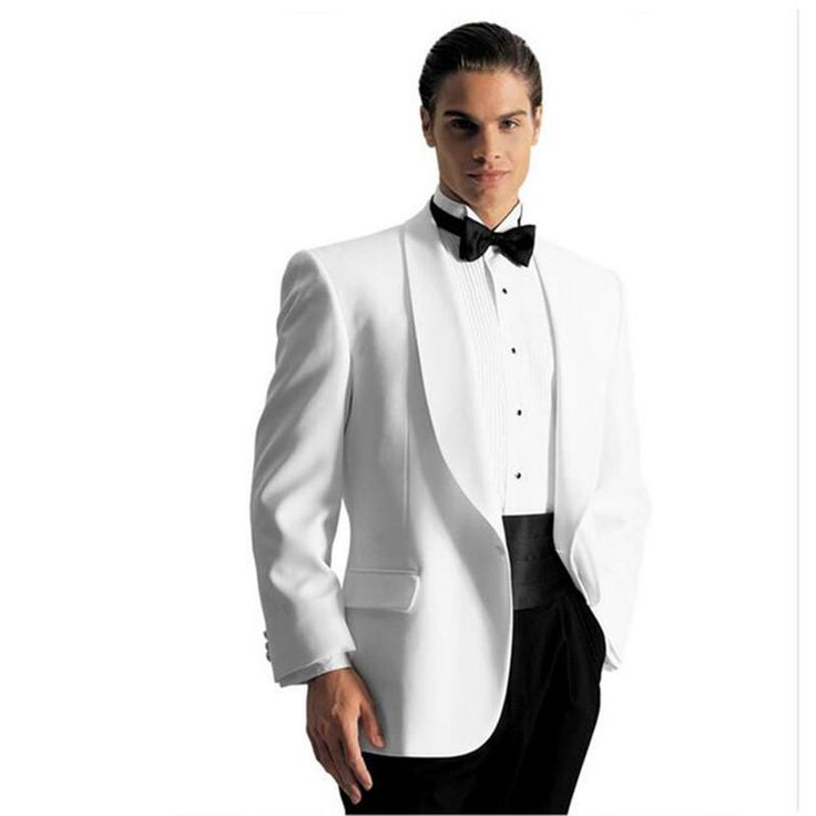 custom ivory wedding suits for men white men tuxedos notched Shawl collar 2017 mens slim fit grooms wedding suits (Jacket+Pant