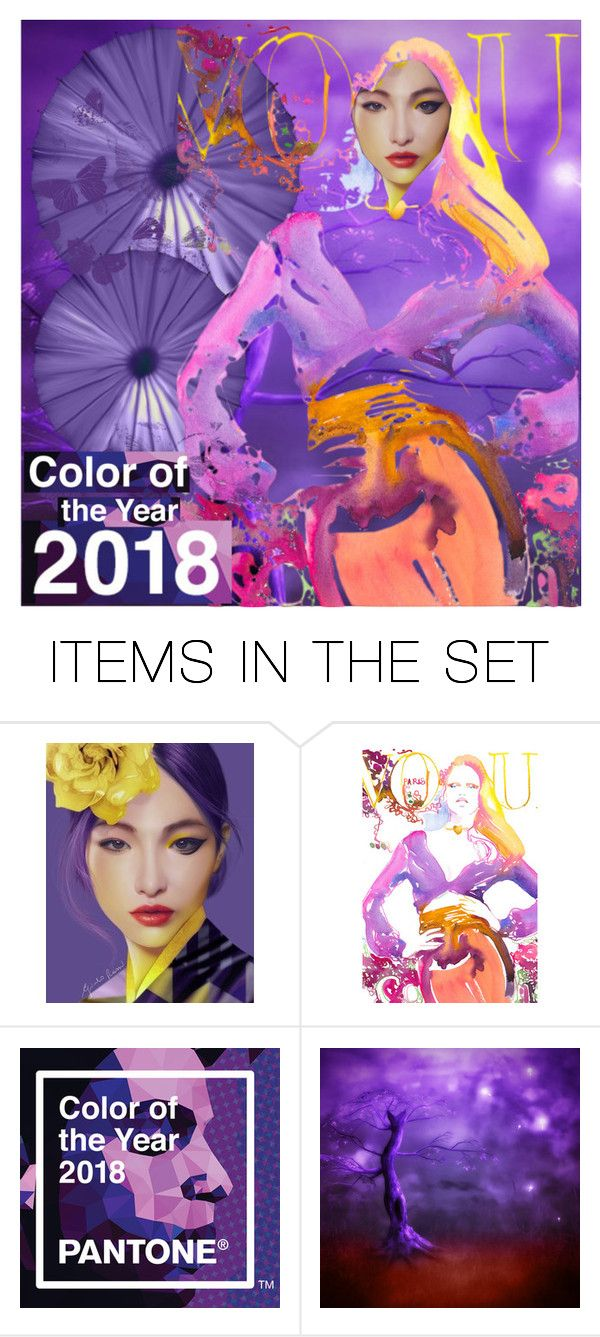 """ultra violet"" by katymill ❤ liked on Polyvore featuring art, violet and ultraviolet"