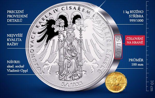 Zcela exkluzivní emise Národní Pokladnice v 1 kilogramu ryzího stříbra. Více na:  https://www.narodnipokladnice.cz/karel1kg #silver #exclusive #karelIV #narodnipokladnice