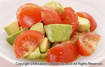 トマトとアボカドのはちみつレモンサラダ