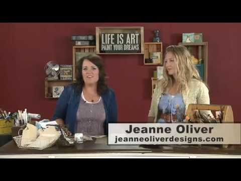 Christy hosts Jeanne Oliver, vintage mixed-media artist. Jeanne teaches how she creates a vintage canvas on an old door plate. Jeanne will explain how to take vintage finds and incorporate your findings it into your art. Jeanne's designs can be found at jeanneoliverdesigns.com.
