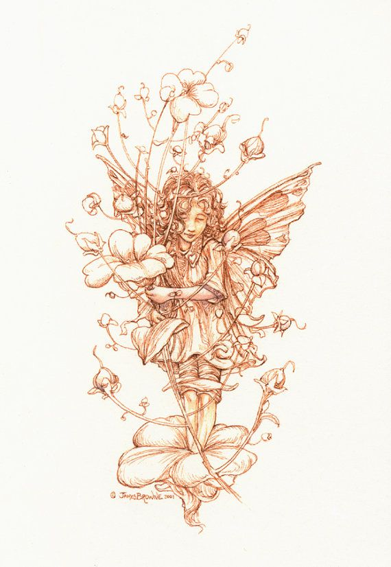 A Flower Fairy 8.5x11 Signed Print by brownieman on Etsy, $9.00