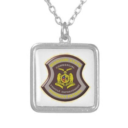 Missouri Highway Patrol Commercial Vehicle Enforce Silver Plated Necklace - accessories accessory gift idea stylish unique custom