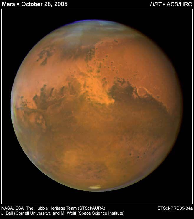A Dust Storm on Mars