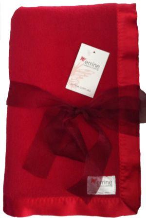 Blanket - Errine, fleecy, satin edge, in/outdoor/wheelchair/lap $35