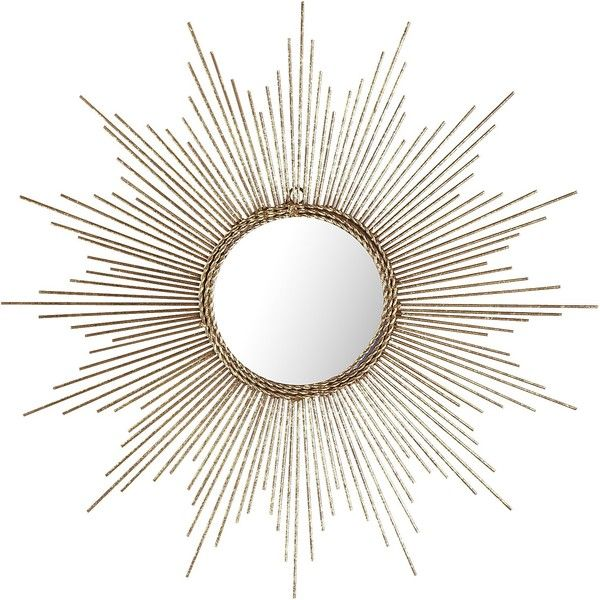 Pier 1 Imports Gold Burst Wall Decor ($25) ❤ liked on Polyvore featuring home, home decor, mirrors, gold, sun burst mirror, antique gold mirror, gold framed mirror, antique gold framed mirrors and gold mirror