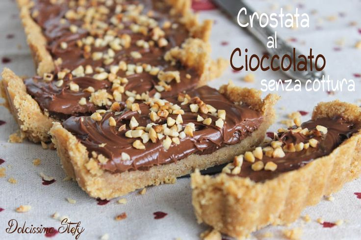Una golosissima Crostata senza cottura al Cioccolato..una ricetta SENZA COTTURA,difficile da credere ma assolutamente vero :D