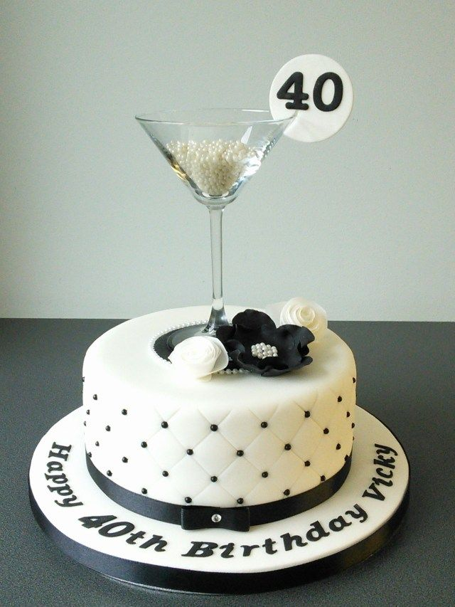 Pleasing 26 Creative Photo Of Cake For 40Th Birthday Woman 40Th Birthday Personalised Birthday Cards Cominlily Jamesorg