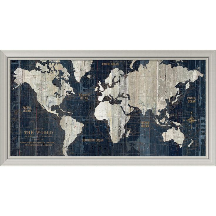 Houston Map Framed%0A Old World Map Blue Poster von Hugo Wild bei AllPosters