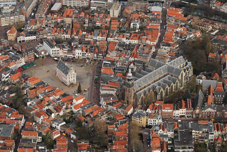 Gouda, City, birdeye's view