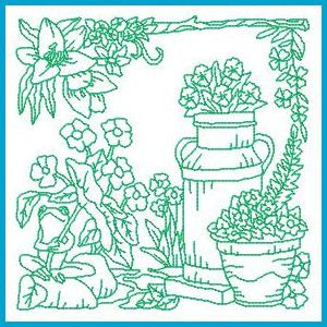 Garden Embroidery Designs alices garden free embroidery pattern from little dorrit co Garden Delight 2