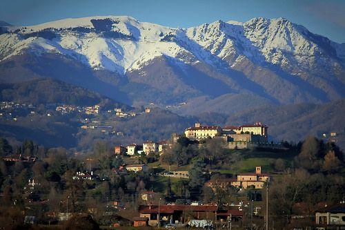 #Visit Piedmont #Valdengo #Chiesa di San Biagio #Castello di Valdengo #Biella #Biellese # Bielmonte #snow #mountains  © Angela Lobefaro All Rights Reserved