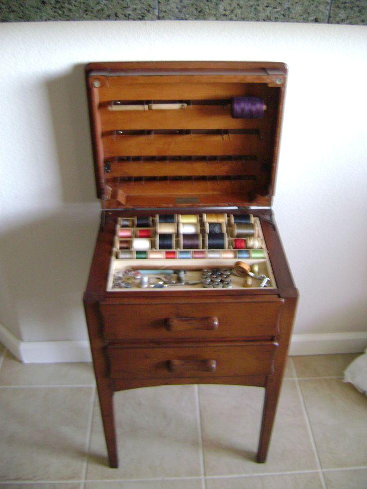 Sewing Cabinet Vintage, Vintage Sewing Cabinet