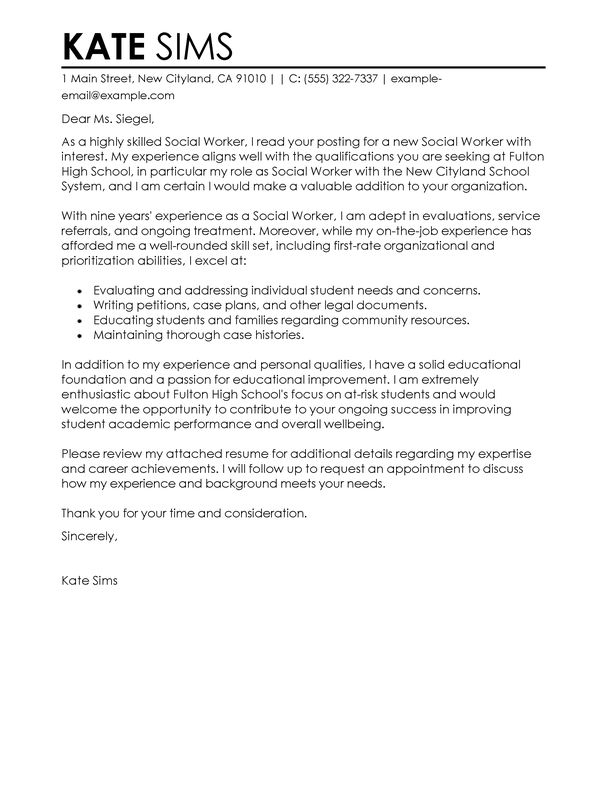 Cele mai bune 25+ de idei despre Sample of cover letter pe Pinterest - social work resume cover letter