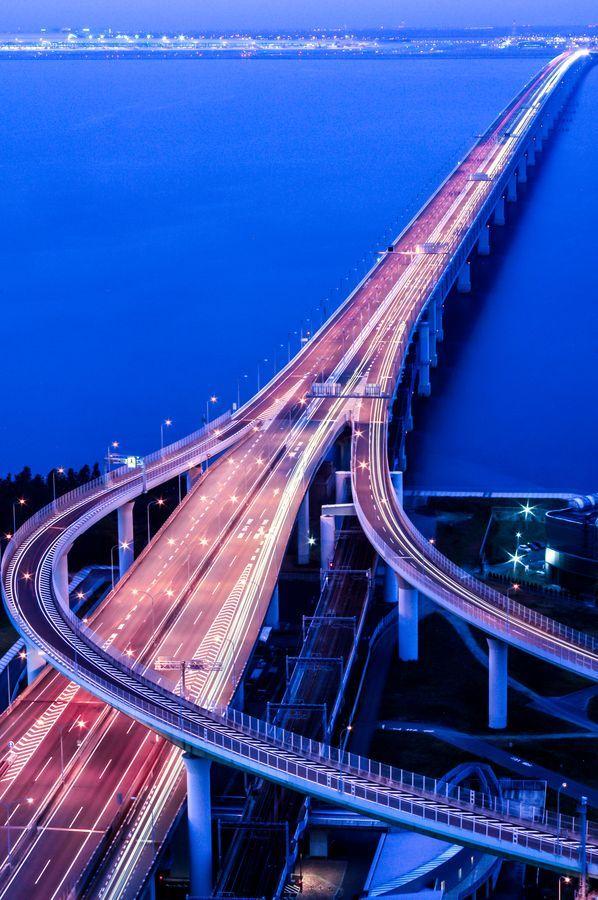 Sky Gate Bridge, Road to Kansai International Airport, Osaka, Japan