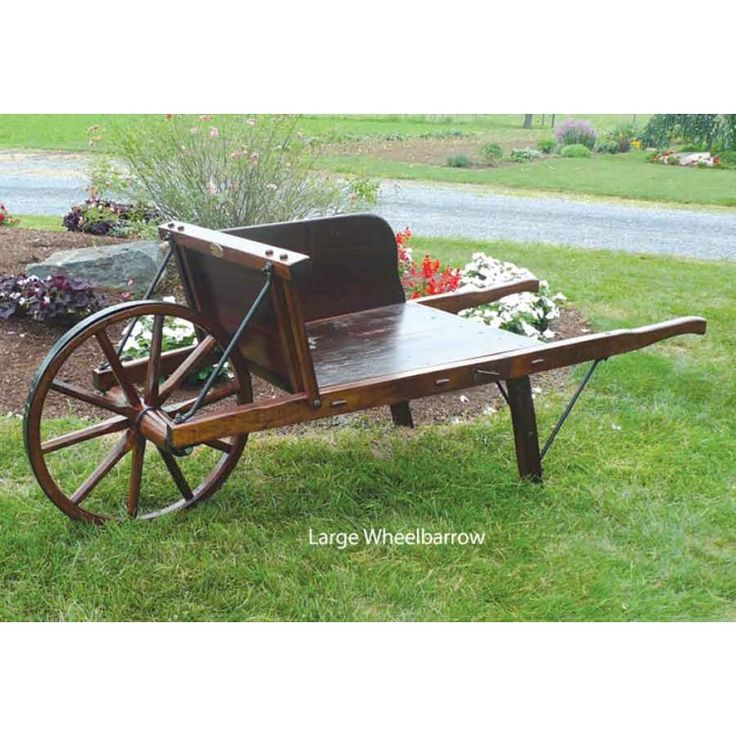 Wood Wheelbarrow: Traditional Wooden Wheelbarrow Plans