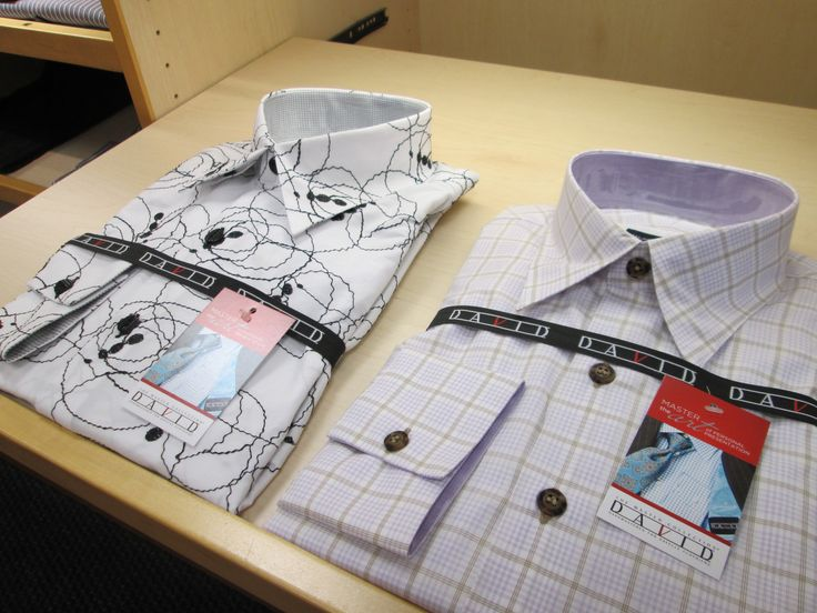 Add some style and sophistication with the custom designed men's dress shirts from Certified Master Designer David Eisele. www.davelleclothiers.com