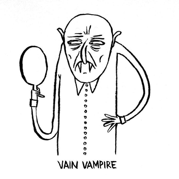 DAY 22 of my entertaining online advent calendar: a Vain Vampire…