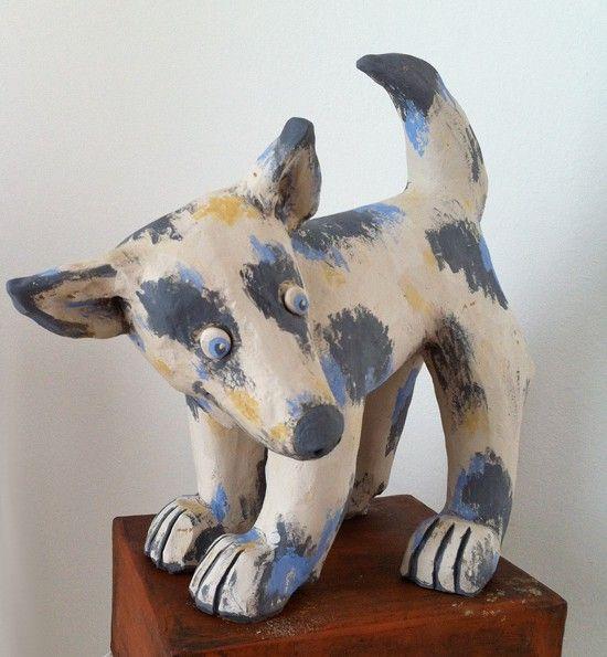 Kleiner Hund aus Keramik - Tierfiguren