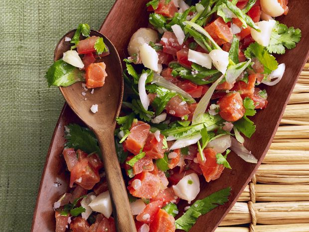 Lomi Lomi Salmon Recipe : Food Network Kitchens : Food Network - FoodNetwork.com