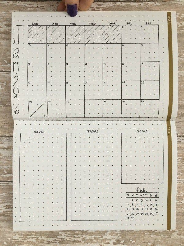 Planner/Bullet Journal Layout Ideas