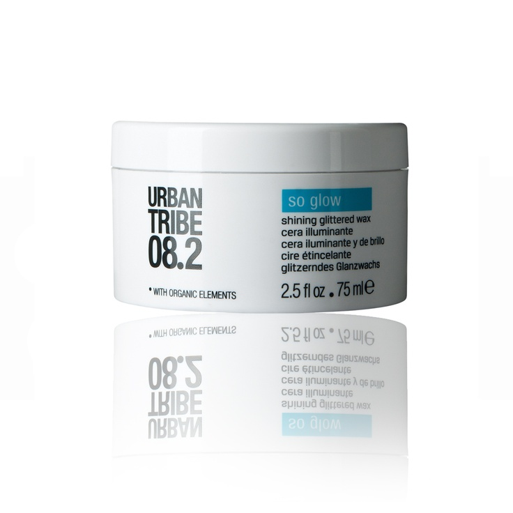It's time to shine with Urban Tribe 08.2 so glow - shining glittered wax! #hair #style