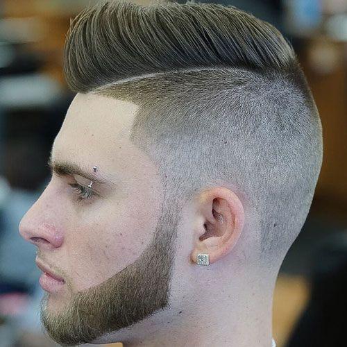 Side Shaved Hair + Short Pompadour