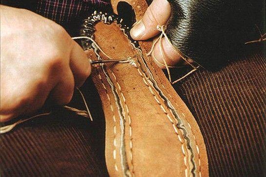 shoemaking and hand stitching