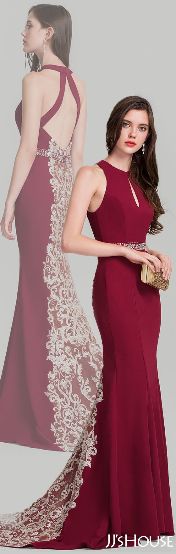 So sexy and chic and the back design perfect the evening dress! #JJsHouse #Evening