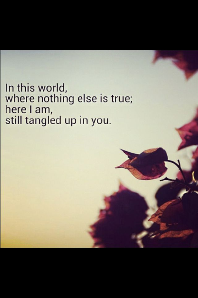 Staind/Aaron Lewis....Tangled up in you