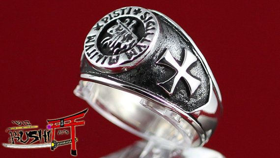 925 Sterling Silver Knight Templar Ring Knight Templar Crusader Seal Shipping with TRACK NUMBER!!! Genuine Sterling Silver .925 - Original Hand