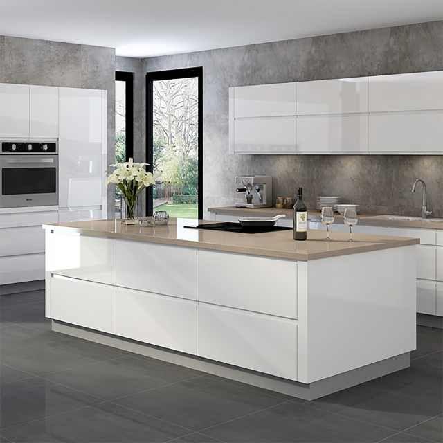 White Gloss Kitchen Island For Sale