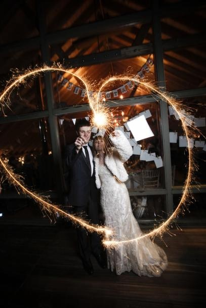 A vintage winter wedding -it'll be dark in december, so maybe you'll want sparklers