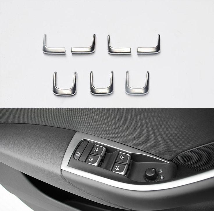 7 Pcs/ensemble ABS Chrome Voiture Style Intérieur de Porte Fenêtre Ascenseur Commutateur Couverture décoration Pour AUDI A1 A3 8 V A4 B8 A6 C7 Q3 Q5