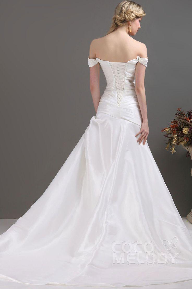 17 best ideas about taffeta wedding dresses on pinterest for Off the shoulder taffeta wedding dress
