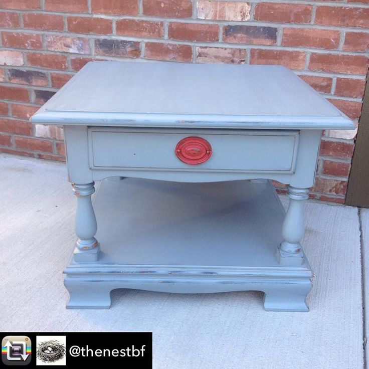 Side table Superior Makeover from The Nest in Bonnners Ferry Idaho using Superior Paint Co. Galvanized Grey