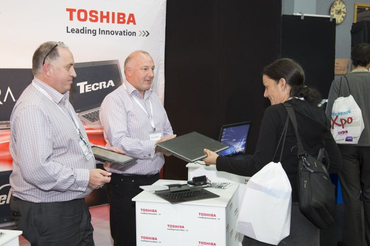 Toshiba stand in exhibition area