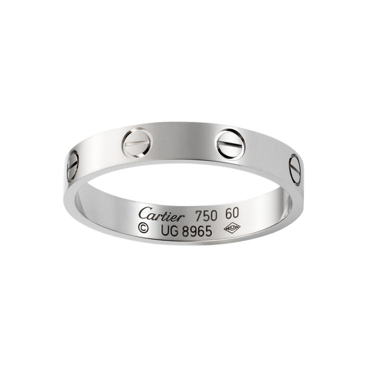 LOVE wedding band, white gold, $1,150 excl. sales tax