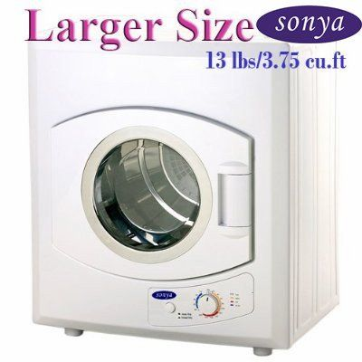 sonya portable compact laundry dryer apartment size 110v 13lbs cu