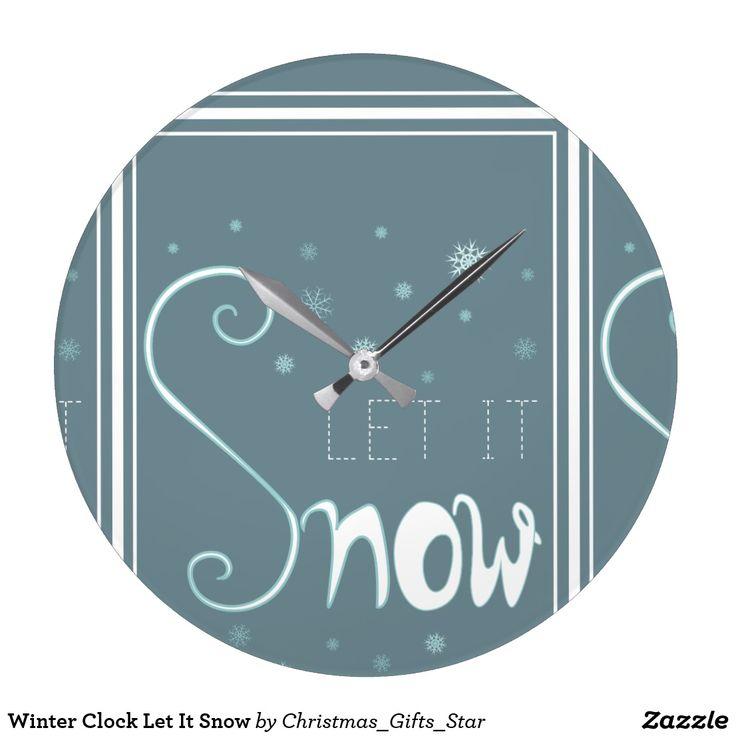 Winter Clock Let It Snow