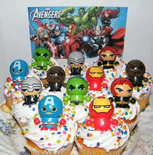 Digital Personalized Photo Cupcake Toppers HULK Marvel Superhero