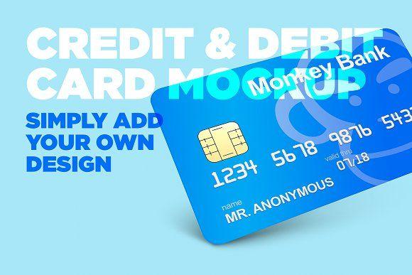 Credit Debit Card Mockup Business Credit Cards Debit Card