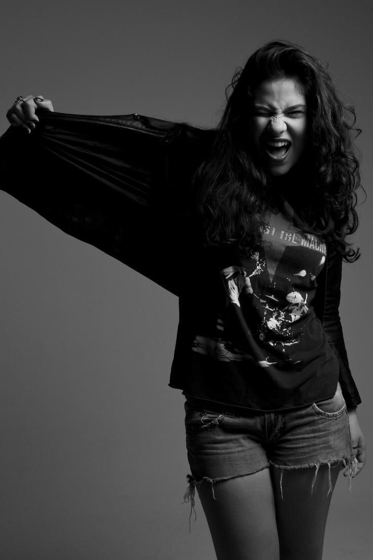 Stella Vasconcelos por Marcus Steinmeyer #girl #rock #portrait #beauty #bw