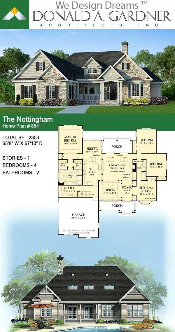 House Plan The Nottingham Home Plan 854 In 2020 Model House Plan House Plans Farmhouse Craftsman House Plans