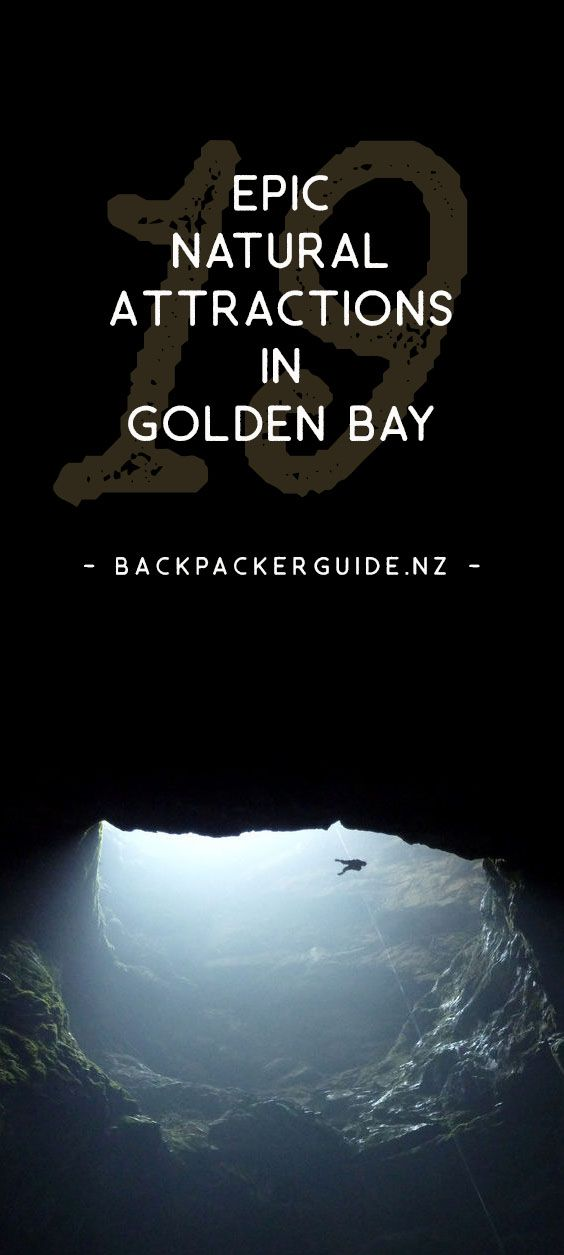 Natural attractions in Golden Bay that will blow your mind!  Over the Takaka Hill lies a land full of weird and wonderful natural features. Limestone rocks have created natural mazes. Caves exist with stalactites growing sideways. Not to mention a whole heap of breathtaking landscapes from the mountains to the sea. There are plenty of epic natural attractions in Golden Bay!