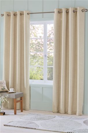 Linen Look Eyelet Curtains From The Next Uk Online