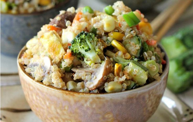 Quinoa Veggie Fried Rice  http://www.prevention.com/eatclean/7-clean-chinese-recipes-that-are-tastier-than-takeout/slide/1