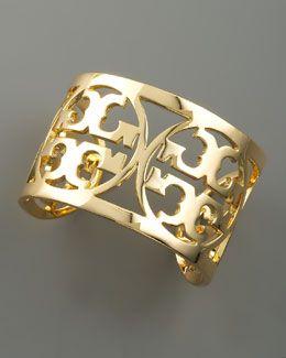 tory burch gold cuff...future bday gift  maybe hopefully