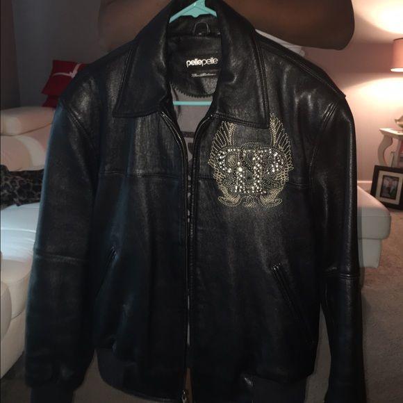 Kids Pelle Pelle Leather Jacket Excellent condition!  Authentic Pelle Pelle Jacket, size 12.  No holes in pockets, no damage to Jacket or lining. Pelle Pelle Jackets & Coats